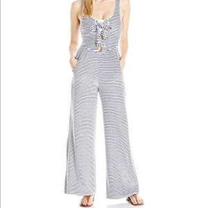 NWT Mara Hoffman Swim Terry Cloth Stripe Jumpsuit